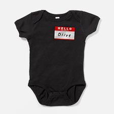 Unique Olive Baby Bodysuit