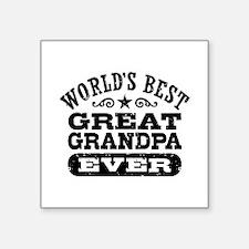 "World's Best Great Grandpa Square Sticker 3"" x 3"""