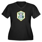 Chicago PD Pipes & Drums Women's Plus Size V-Neck