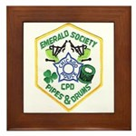 Chicago PD Pipes & Drums Framed Tile