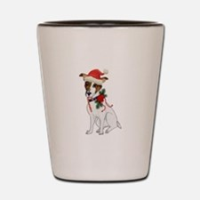 Jack Russell Christmas Shot Glass