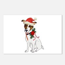 Jack Russell Christmas Postcards (Package of 8)