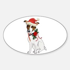 Jack Russell Christmas Decal