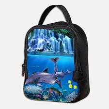 The Dolphin Family Neoprene Lunch Bag