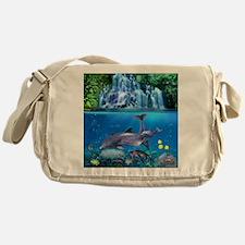 The Dolphin Family Messenger Bag