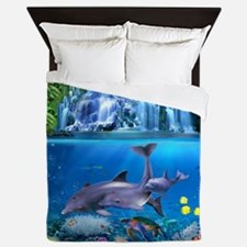 The Dolphin Family Queen Duvet