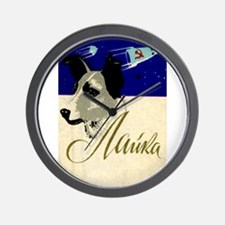 Laika Dog Cosmonaut USSR Space Vintage Wall Clock