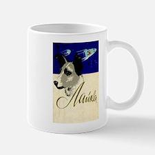 Laika Dog Cosmonaut USSR Space Vintage Retro Mugs