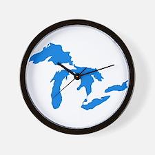 Great Lakes Usa Amerikan Big Water Reso Wall Clock