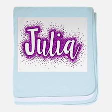 Glitter Julia baby blanket
