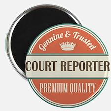 court reporter vintage logo Magnet