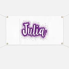 Glitter Julia Banner