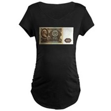 Ruble Soviet Communist currency Maternity T-Shirt