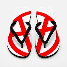Anarchy Symbol Art Design Flip Flops