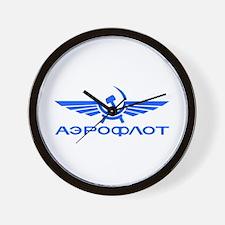 Aeroflot Russian Airlines Flights Wall Clock