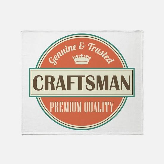 craftsman vintage logo Throw Blanket
