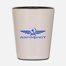 Aeroflot Russian Airlines Flights Shot Glass