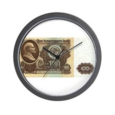 Ruble Soviet Communist currency Wall Clock