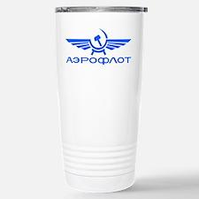 Aeroflot Russian Airlin Stainless Steel Travel Mug