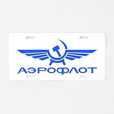 Aeroflot Russian Airlines F Aluminum License Plate