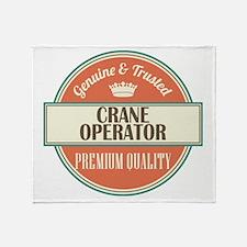 crane operator vintage logo Throw Blanket