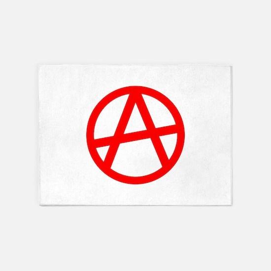 Anarchy Symbol Art Design 5'x7'Area Rug