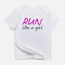 Cute Run like a girl Infant T-Shirt