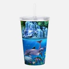 The Dolphin Family Acrylic Double-wall Tumbler