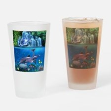 The Dolphin Family Drinking Glass