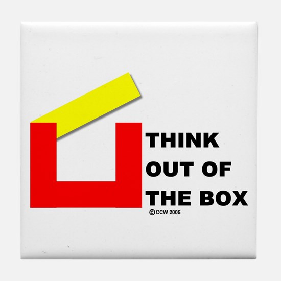 Think Out of The Box Tile Coaster
