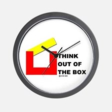 Think Out of The Box Wall Clock