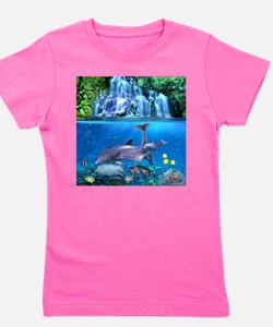 The Dolphin Family Girl's Tee