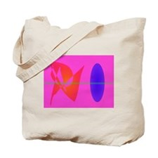 Geometric Contrast Pink Tote Bag