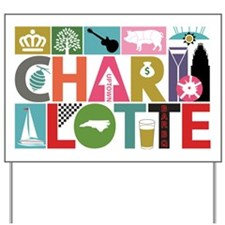 Cute Charlotte north carolina Yard Sign