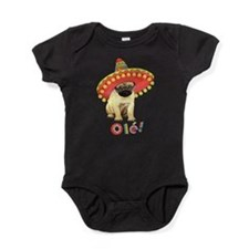 Cute Pug art Baby Bodysuit