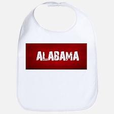 ALABAMA RED and white Bib