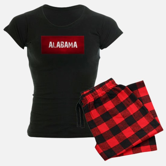 ALABAMA RED and white pajamas