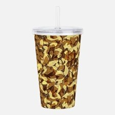 Fall Camouflage Acrylic Double-wall Tumbler