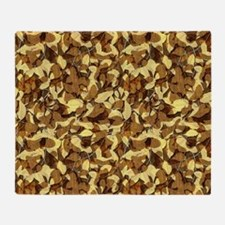 Fall Camouflage Throw Blanket