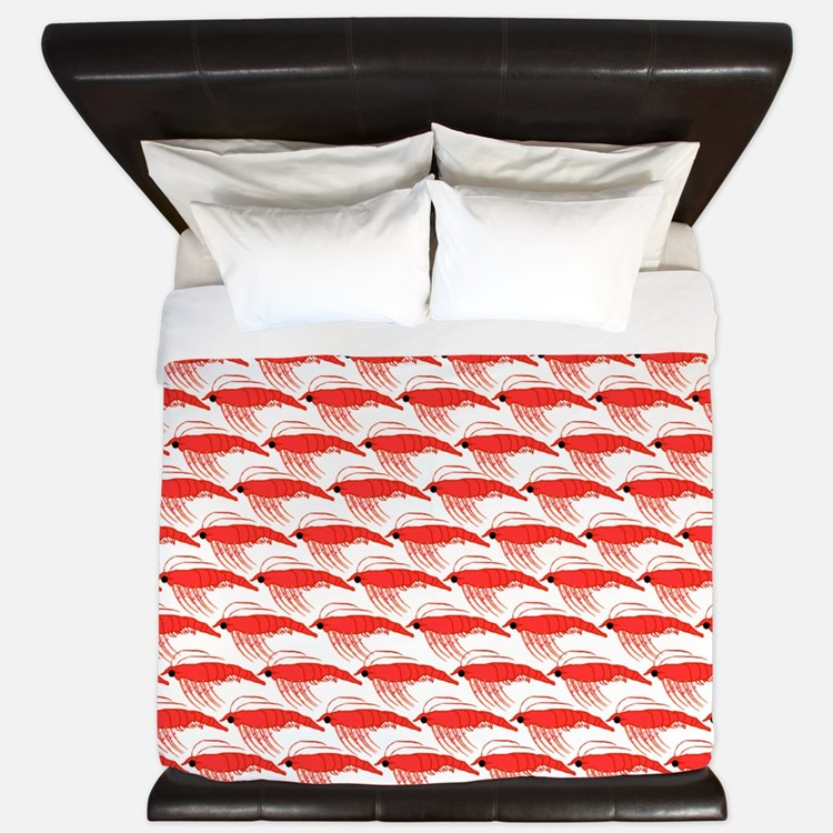 Krill Pattern King Duvet