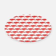 Krill Pattern Oval Car Magnet