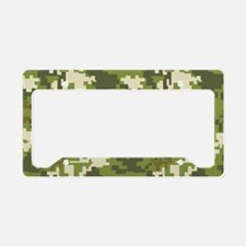 digital camouflage license plate holder