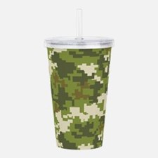 Digital Camouflage Acrylic Double-wall Tumbler