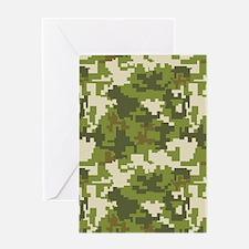 Digital Camouflage Greeting Card