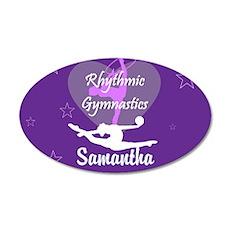 Purple Rhythmic Gymnastics Wall Decal