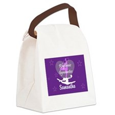 Purple Rhythmic Gymnastics Canvas Lunch Bag