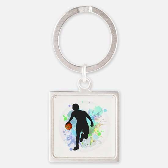 Cute Competition Square Keychain