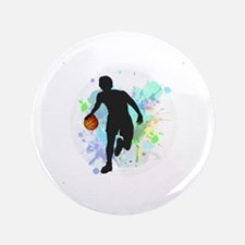 Cute College basketball Button
