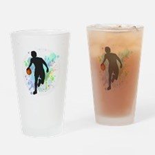 Cute College basketball Drinking Glass