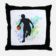 Cute Athletics basketball Throw Pillow